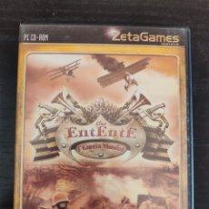 Videojuegos y Consolas: THE ENTENTE PRIMERA GUERRA MUNDIAL JUEGO PC. Lote 219271361
