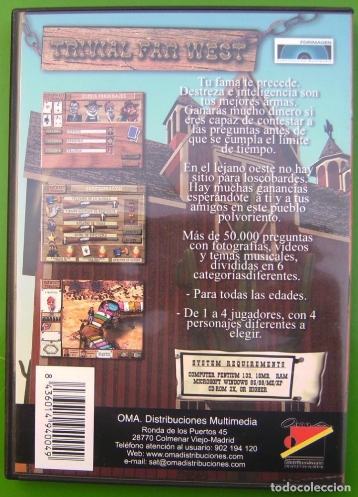 Videojuegos y Consolas: Trivial - Far West - Trivialmania, Juego de ordenador - Foto 2 - 219451008