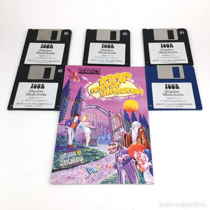 IGOR OBJETIVO UIKOKAHONIA 1ª AVENTURA GRAFICA ESPAÑOLA PENDULO STUDIOS 1994 DRO SOFT DISKETTE 3,5 PC (Juguetes - Videojuegos y Consolas - PC)