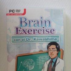 Videojuegos y Consolas: PC DVD BRAIN EXERCISE DR KAWASHIMA TRABAJA TU CEREBRO. Lote 221606776