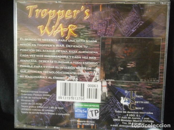 Videojuegos y Consolas: JUEGO DE PC RETRO (AÚN PLASTIFICADO) TROPPERS WAR - Foto 2 - 221627193