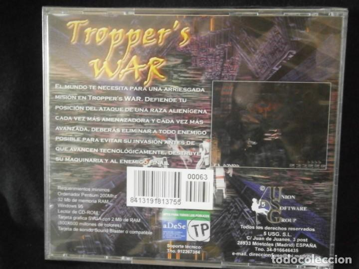 Videojuegos y Consolas: JUEGO DE PC RETRO (AÚN PLASTIFICADO) TROPPERS WAR - Foto 2 - 221627202