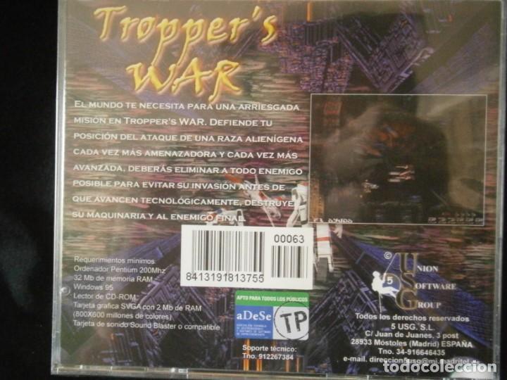 Videojuegos y Consolas: JUEGO DE PC RETRO (AÚN PLASTIFICADO) TROPPERS WAR - Foto 2 - 221627205