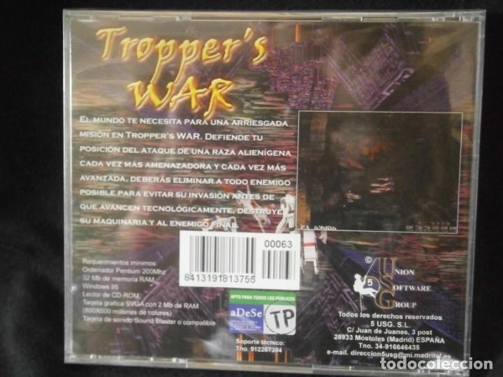 Videojuegos y Consolas: JUEGO DE PC RETRO (AÚN PLASTIFICADO) TROPPERS WAR - Foto 2 - 221627217