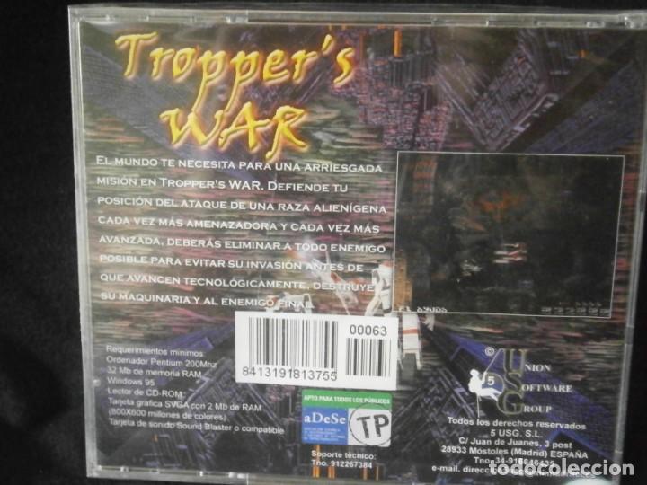 Videojuegos y Consolas: JUEGO DE PC RETRO (AÚN PLASTIFICADO) TROPPERS WAR - Foto 2 - 221627221