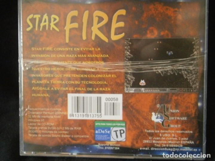 Videojuegos y Consolas: JUEGO DE PC RETRO (AÚN PLASTIFICADO) STAR FIRE - Foto 2 - 221627258