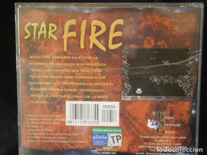 Videojuegos y Consolas: JUEGO DE PC RETRO (AÚN PLASTIFICADO) STAR FIRE - Foto 2 - 221627335