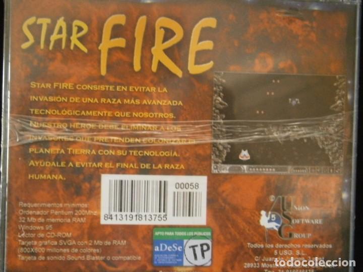 Videojuegos y Consolas: JUEGO DE PC RETRO (AÚN PLASTIFICADO) STAR FIRE - Foto 2 - 221627390