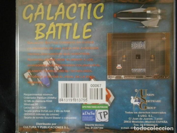 Videojuegos y Consolas: JUEGO DE PC RETRO (AÚN PLASTIFICADO) GALACTIC BATTLE - Foto 2 - 221627471