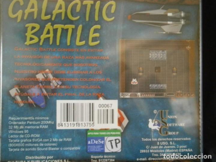 Videojuegos y Consolas: JUEGO DE PC RETRO (AÚN PLASTIFICADO) GALACTIC BATTLE - Foto 2 - 221627473