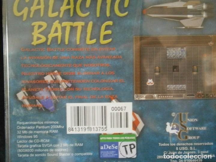 Videojuegos y Consolas: JUEGO DE PC RETRO (AÚN PLASTIFICADO) GALACTIC BATTLE - Foto 2 - 221627485