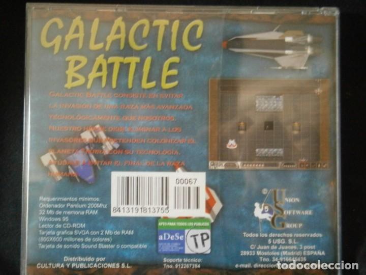 Videojuegos y Consolas: JUEGO DE PC RETRO (AÚN PLASTIFICADO) GALACTIC BATTLE - Foto 2 - 221627486