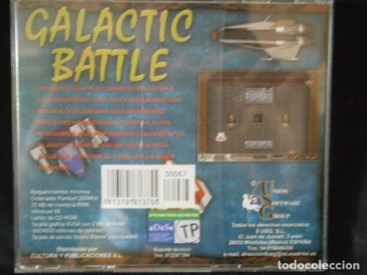Videojuegos y Consolas: JUEGO DE PC RETRO (AÚN PLASTIFICADO) GALACTIC BATTLE - Foto 2 - 221627492