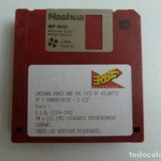 Videojuegos y Consolas: INDIANA JONES AND THE FATE OF ATLANTIS -PC 3,5 ERBE 1992 CONTIENE 5 DISCOS DIKETES. Lote 222277841