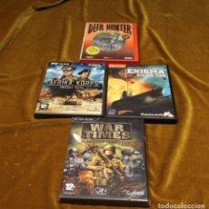 Videojuegos y Consolas: CONJUNTO DE 4 VIDEOJUEGOS PARA PC,CD ROM.. Lote 222822167