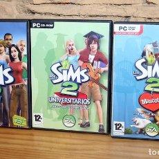 Videojuegos y Consolas: LOS SIMS 2: JUEGO + 2 EXPANSIONES (MASCOTAS Y UNIVERSITARIOS). Lote 225956945