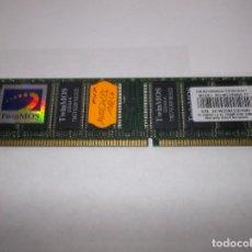Videojuegos y Consolas: PC MEMORIA TWINMOS 256MB PC3200 DDR-DIMM ORDENADOR. Lote 226067662