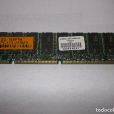 Videojuegos y Consolas: PC MEMORIA SD-168PIN 256MB PC133 ORDENADOR. Lote 226072031