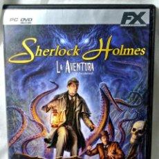 Videojuegos y Consolas: PC DVD ROM SHERLOCK HOLMES LA AVENTURA, JUEGO PARA PC , INCLUYE MANUAL DE JUEGO. Lote 228343060