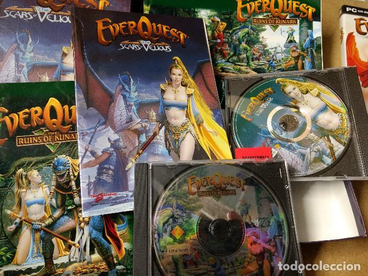 Videojuegos y Consolas: LOTE DE 3 CAJAS EVER QUEST JUEGO PC EDICIÓN ESPAÑOLA MANUALES - Foto 3 - 228500225