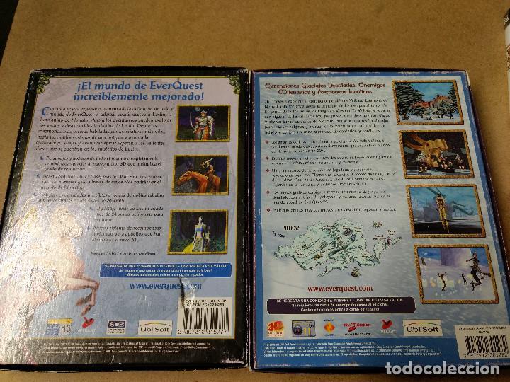 Videojuegos y Consolas: LOTE DE 3 CAJAS EVER QUEST JUEGO PC EDICIÓN ESPAÑOLA MANUALES - Foto 5 - 228500225