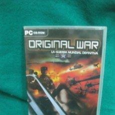 Videojuegos y Consolas: PC CD-ROM. ORIGINAL WAR. LA GUERRA MUNDIAL DEFINITIVA. 2 CD + LIBRITO.. Lote 228861815
