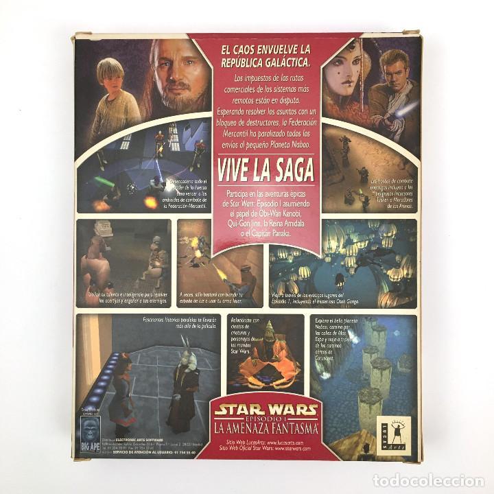 Videojuegos y Consolas: STAR WARS EPISODIO 1 LA AMENAZA FANTASMA SOLO CAJA GRANDE Y MANUAL MANDALORIAN GEORGE LUCAS ARTS PC - Foto 3 - 228997815