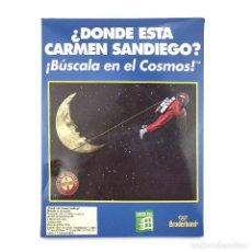 Jeux Vidéo et Consoles: DONDE ESTA CARMEN SANDIEGO BUSCALA EN EL COSMOS DRO ESPAÑA BRODERBUND DISK 3½ IBM MS DOS PC DISKETTE. Lote 228999655