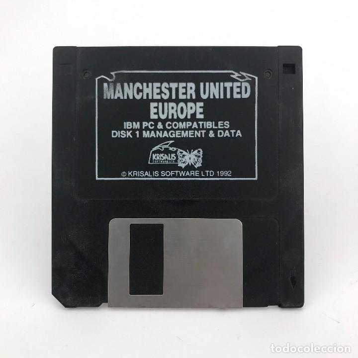 MANCHESTER UNITED EUROPE. KRISALIS SOFTWARE 1992 FUTBOL MS DOS DISK IBM PC Y COMPATIBLES DISKETTE 3½ (Juguetes - Videojuegos y Consolas - PC)