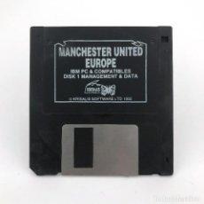 Videojuegos y Consolas: MANCHESTER UNITED EUROPE. KRISALIS SOFTWARE 1992 FUTBOL MS DOS DISK IBM PC Y COMPATIBLES DISKETTE 3½. Lote 230244215