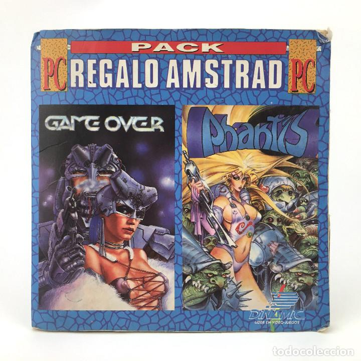 PACK REGALO AMSTRAD GAME OVER PHANTIS DINAMIC SOFTWARE 1988 ZIGURAT OPERA FLOPPY DISK PC DISKETTE 5¼ (Juguetes - Videojuegos y Consolas - PC)