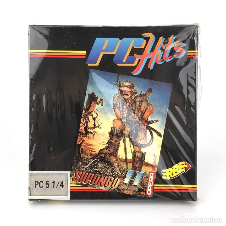 LIVINGSTONE SUPONGO II * PRECINTADO OPERA SOFT ESPAÑA 1989 VIDEOAVENTURA DISKETTE 5 ¼ MSDOS JUEGO PC (Juguetes - Videojuegos y Consolas - PC)