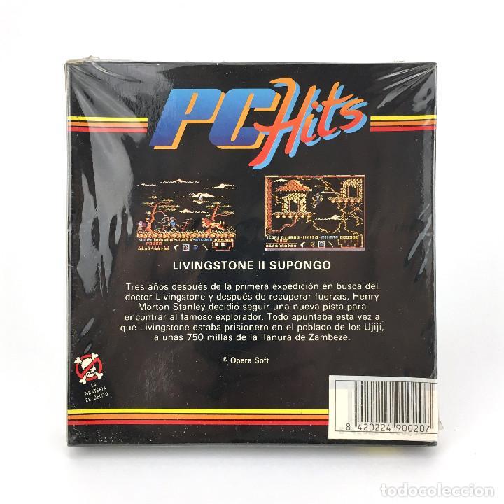 Videojuegos y Consolas: LIVINGSTONE SUPONGO II * Precintado OPERA SOFT ESPAÑA 1989 VIDEOAVENTURA DISKETTE 5 ¼ MSDOS JUEGO PC - Foto 2 - 231568890