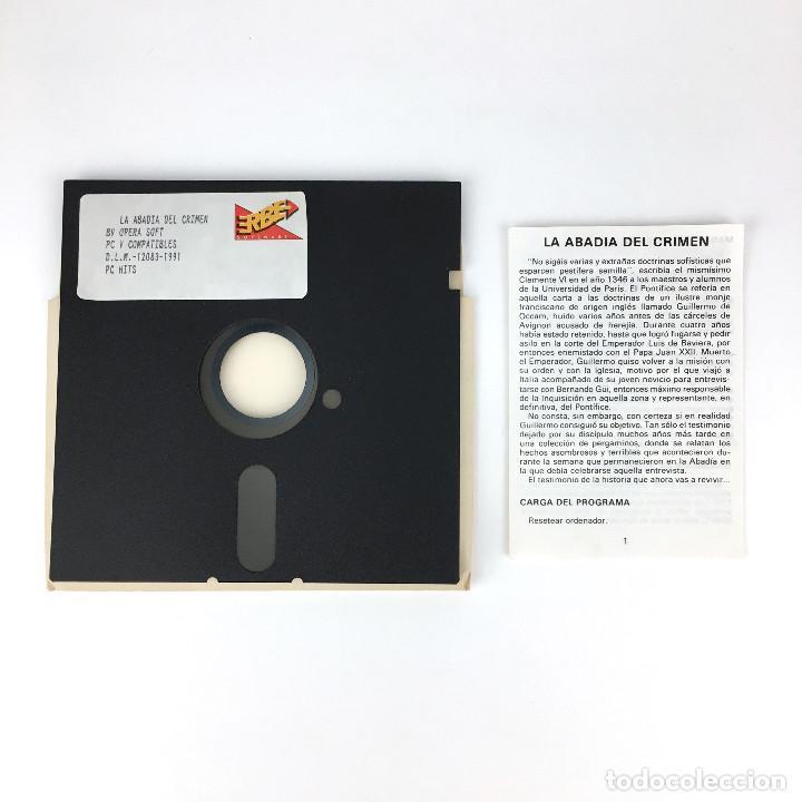 Videojuegos y Consolas: LA ABADIA DEL CRIMEN. OPERA SOFT / ACADEMIA MÍSTER CHIP VIDEOAVENTURA DISKETTE 5¼ DISK IBM MS DOS PC - Foto 2 - 231789415