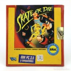 Videojuegos y Consolas: SKATE OR DIE DRO SOFT ESPAÑA / ELECTRONIC ARTS 1988 MONOPATIN BOARD DISKETTE 3 ½ IBM MS DOS JUEGO PC. Lote 231789515