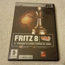 Videojuegos y Consolas: -PROGRAMA PC AJEDREZ FRITZ 8 EN ESPAÑOL. Lote 234552305
