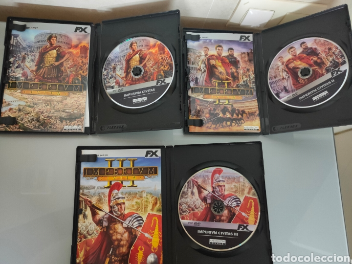 Videojuegos y Consolas: 3x JUEGOS PC IMPERIUM CIVITAS 2006/2008 - Foto 2 - 234789065