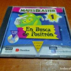 Videojuegos y Consolas: MASTER BLASTER 1. EN BUSCA DE POSITRÓN. CD-ROM. BUEN ESTADO. DIFICIL. Lote 235188875