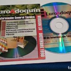 Videojuegos y Consolas: PC CD ROM ( EURO ADOQUÍN - INFORMACIÓN GENERAL TÉCNICA ) VERSION 1.0 DICIEMBRE 1998 - SIN USO. Lote 236041900