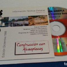 Videojuegos y Consolas: PC CD ROM ( AIDEPLA - INFORMACIÓN GENERAL TÉCNICA ) VERSION 1.0 DICIEMBRE 1998 - SIN USO. Lote 236042155