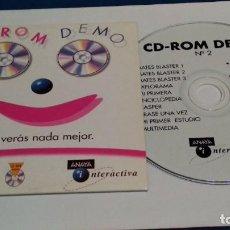 Videojuegos y Consolas: PC CD ROM DEMO ( ANAYA INTERACTIVA Nº 2 - NO VERÁS NADA MEJOR ) - SIN USO. Lote 236054780