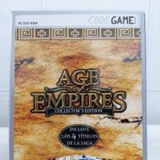 Videojuegos y Consolas: AGE OF EMPIRES COLLECTORS EDITION - INCLUYE 4 TITULOS DE LA SAGA - CON MANUAL USUARIO - PC DVD ROM. Lote 236442110