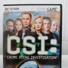 Videojuegos y Consolas: CSI - CRIME SCENE INVESTIGATION - INCLUYE MANUAL USUARIO - PC DVD ROM - CODE GAME - UBISOFT. Lote 236444130