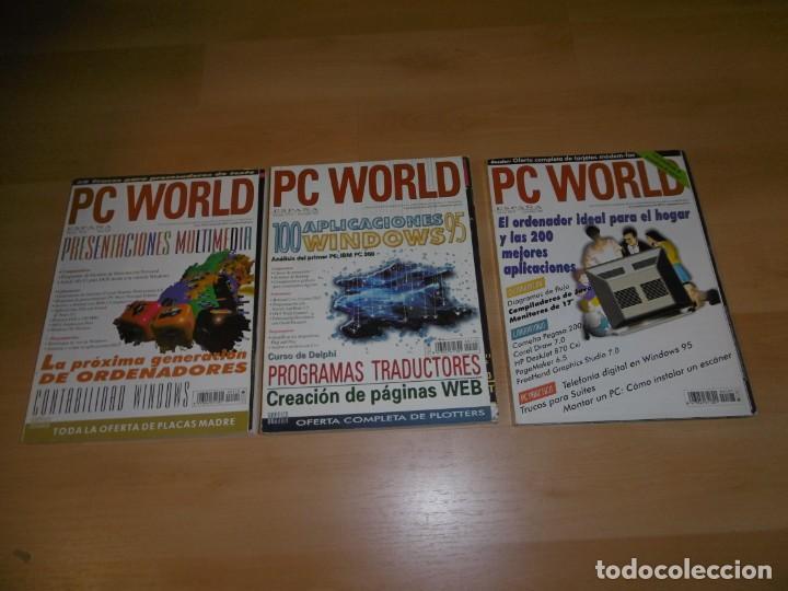 LOTE DE REVISTAS PC WORLD 110 - 115 -127 MARZO, NOVIEMBRE, DICIEMBRE 1995 (Juguetes - Videojuegos y Consolas - PC)