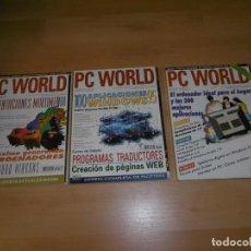 Videojuegos y Consolas: LOTE DE REVISTAS PC WORLD 110 - 115 -127 MARZO, NOVIEMBRE, DICIEMBRE 1995. Lote 236971030