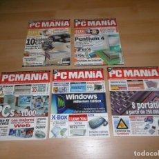 Videojuegos y Consolas: LOTE DE REVISTAS PCMANÍA 4 - 8 - 11 - 15 - 27. Lote 236971485