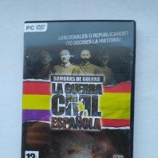 Videojuegos y Consolas: SOMBRAS DE GUERRA. LA GUERRA CIVIL ESPAÑOLA PC DVD. TDK587. Lote 237287830