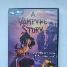 Videojuegos y Consolas: A VAMPYRE STORY. JUEGO PC CASTELLANO. TDK587. Lote 237288045