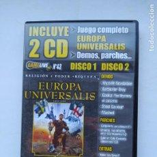Videojuegos y Consolas: EUROPA UNIVERSALIS. JUEGO PC. SOLO CD 1. UBI SOFT. TDK587. Lote 237291150