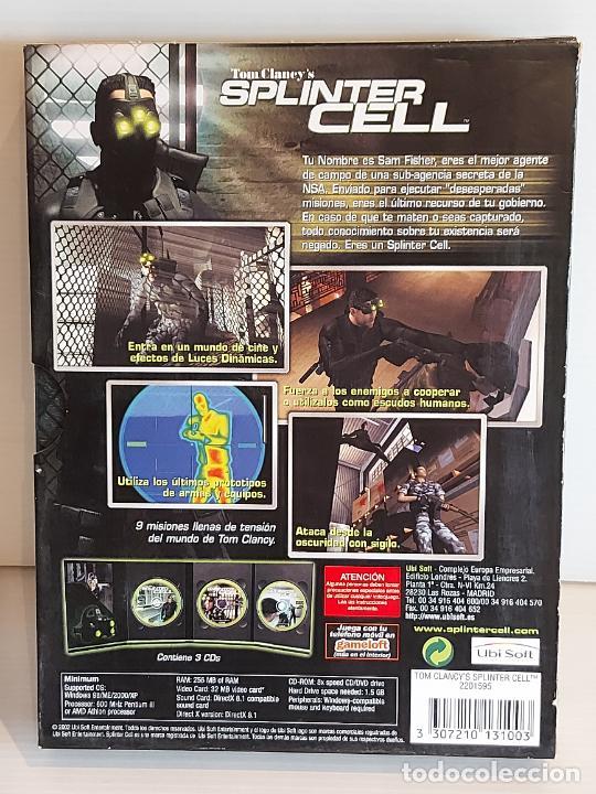 Videojuegos y Consolas: SPLINTER CELL / PC.CD-ROM / COMPLETO 3 DISCOS / MUY BUENA CALIDAD. OCASIÓN ! - Foto 5 - 237304575